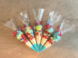 Red & Blue Sweetie Cone