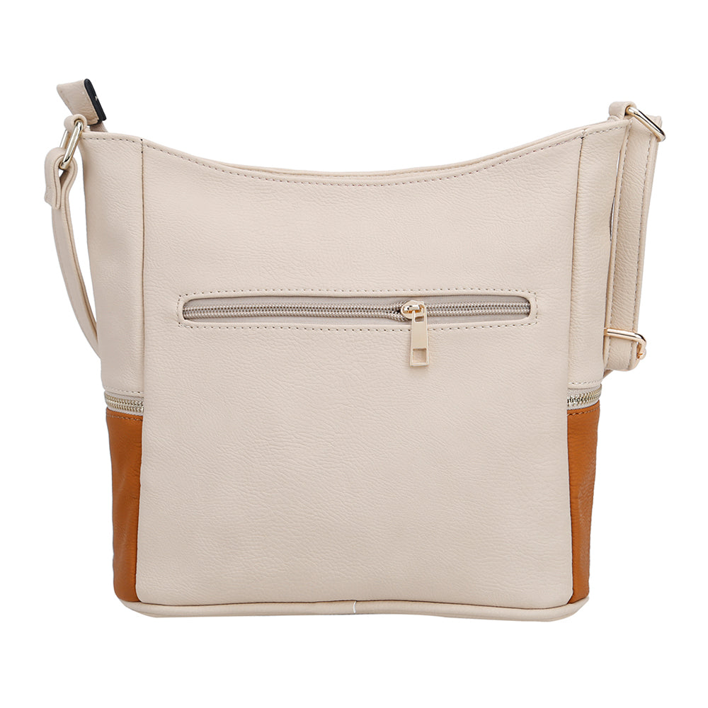 MALIBU SKYE Rosie Color Block Hobo Crossbody Bag