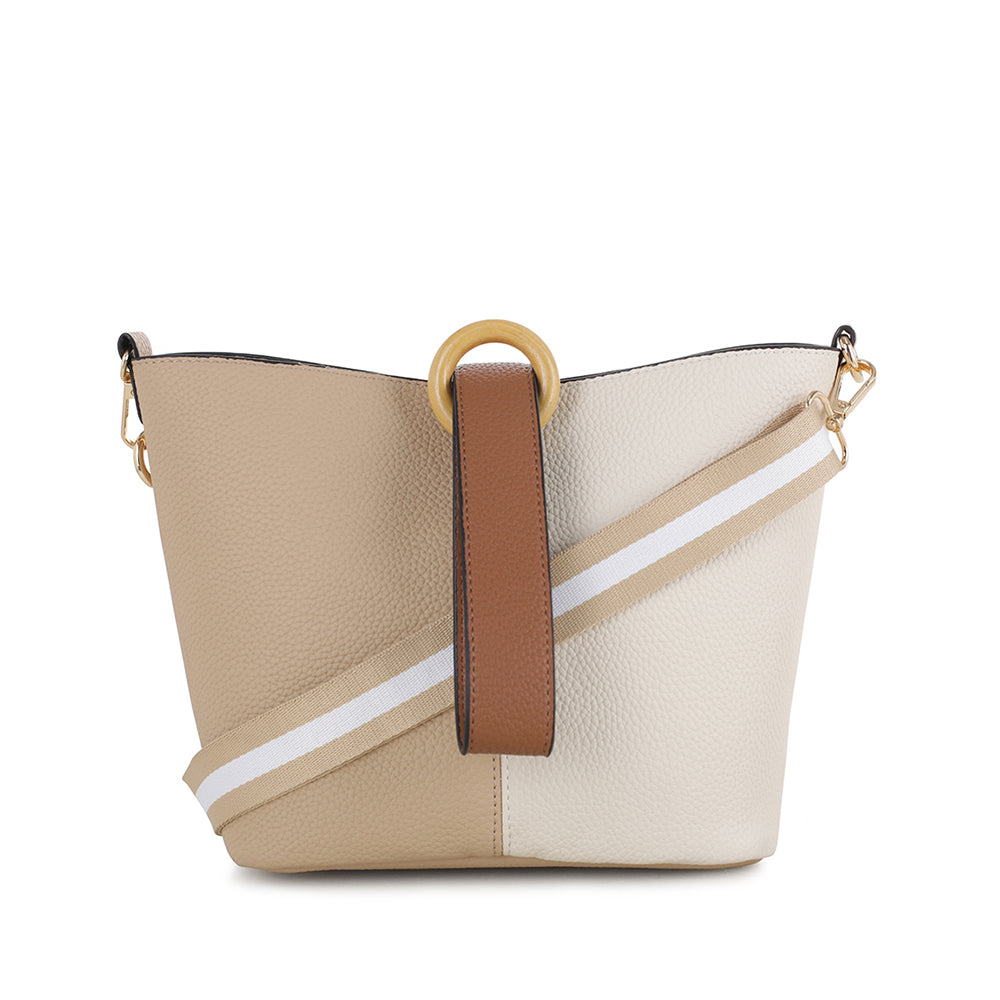 Amelia Colorblock Bucket Crossbody Bag
