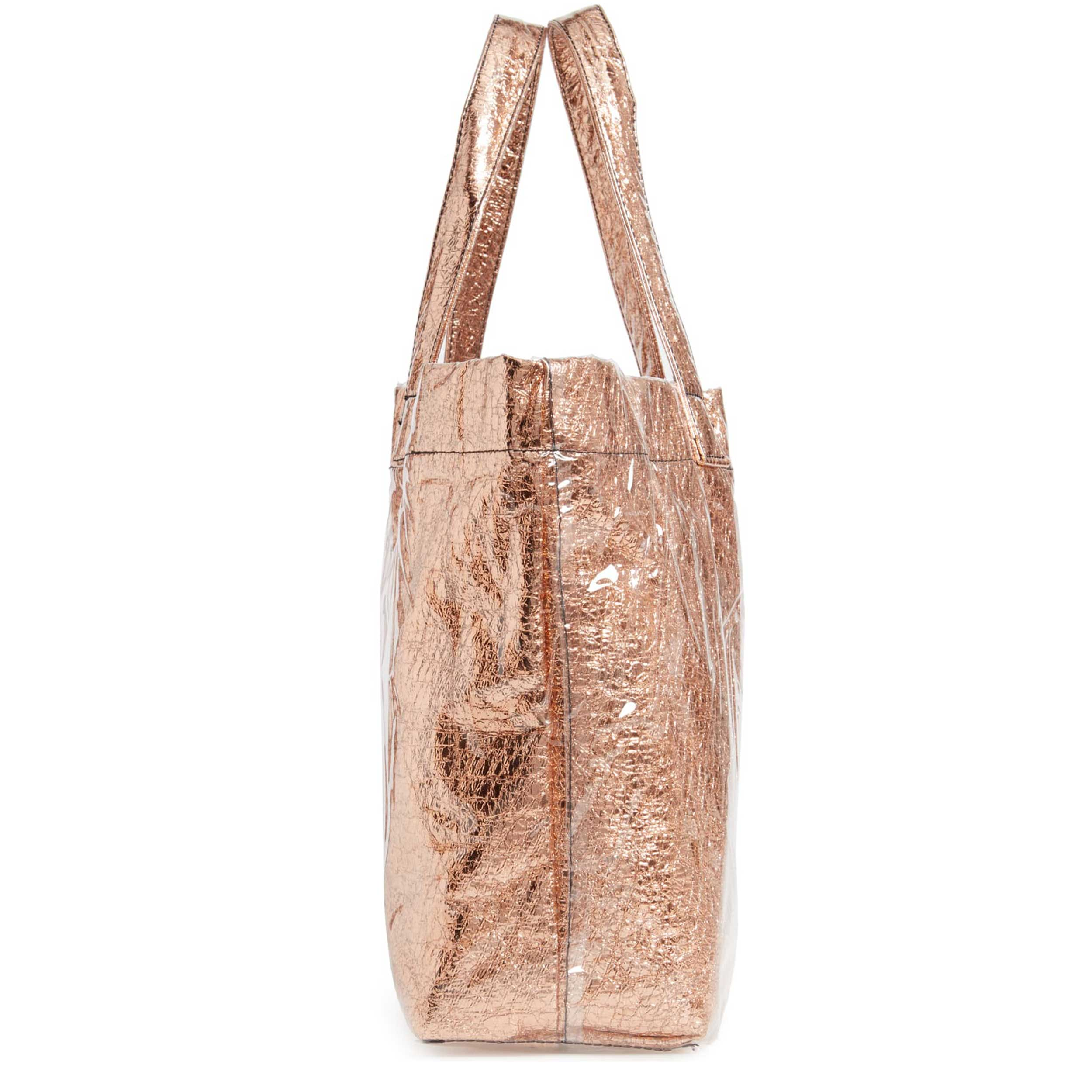 Sheen Clear and Metallic Tote