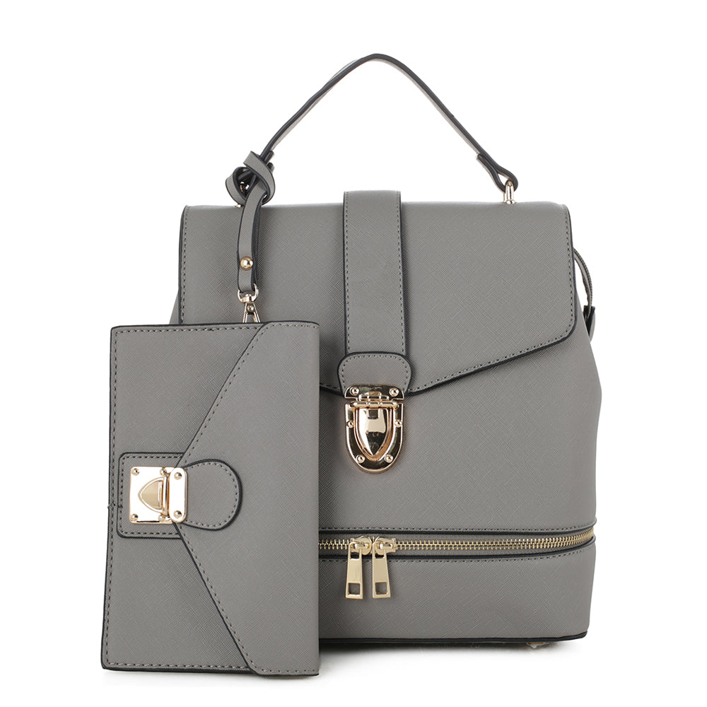 Callie Structured Backpack with matching Wristlet