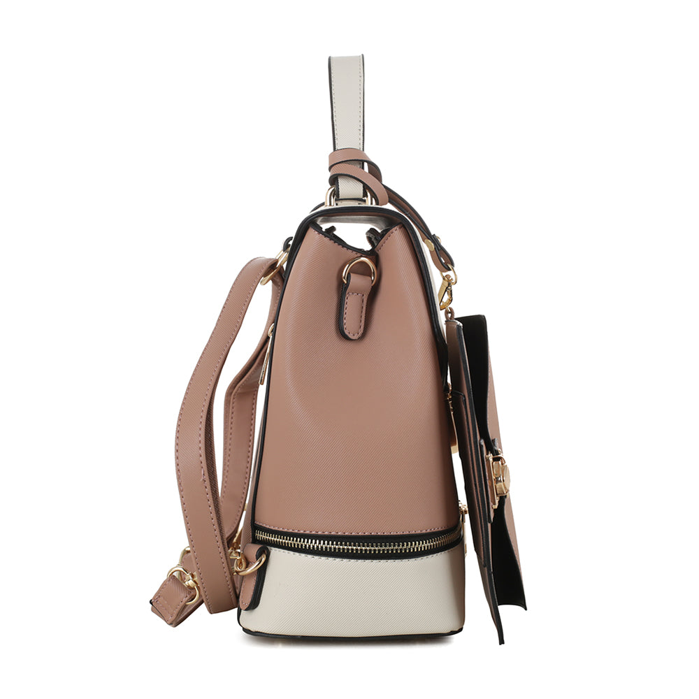Callie ColorBlock Convertible Backpack with Matching Wristlet