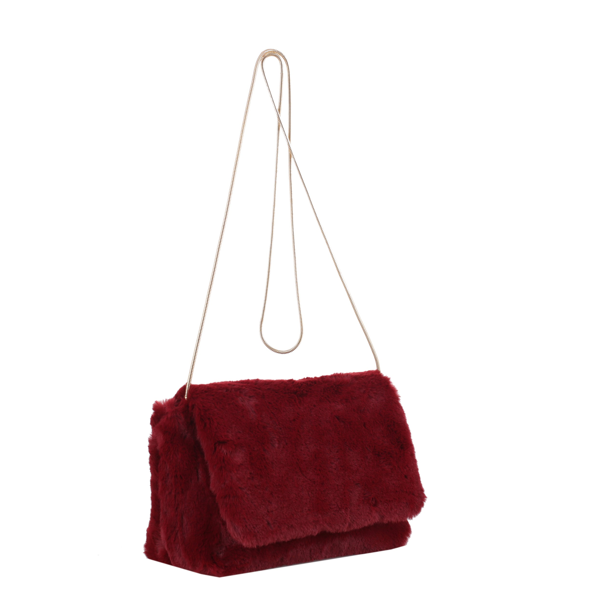 Euphoria Faux Fur Crossbody with Snake Chain
