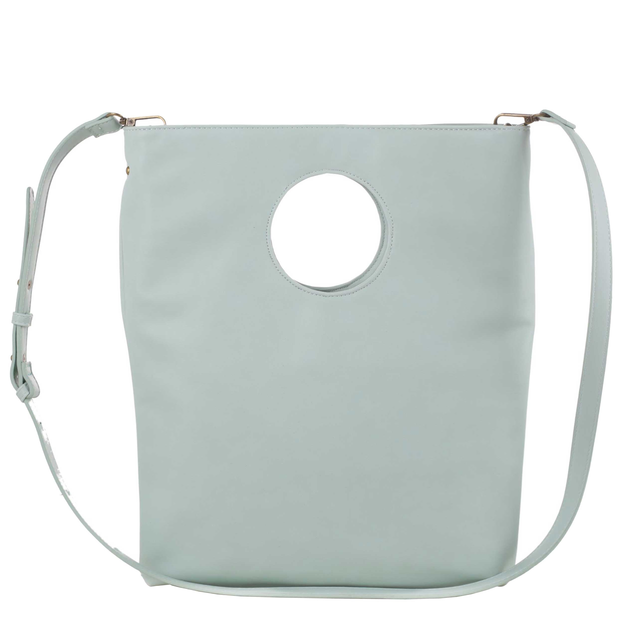 Azure Cut-Out Handle Fold-over Tote