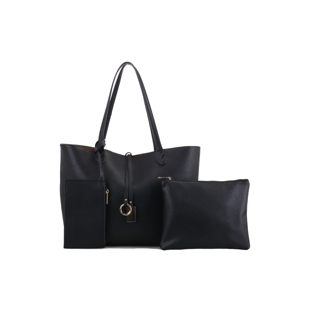 3 Piece Set - Alicia Reversible Tote