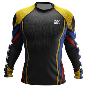 Tricolor Biker (Rash Guard Manga Larga - Hombres)