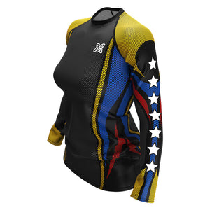 Tricolor Biker (Rash Guard Manga Larga - Mujeres)