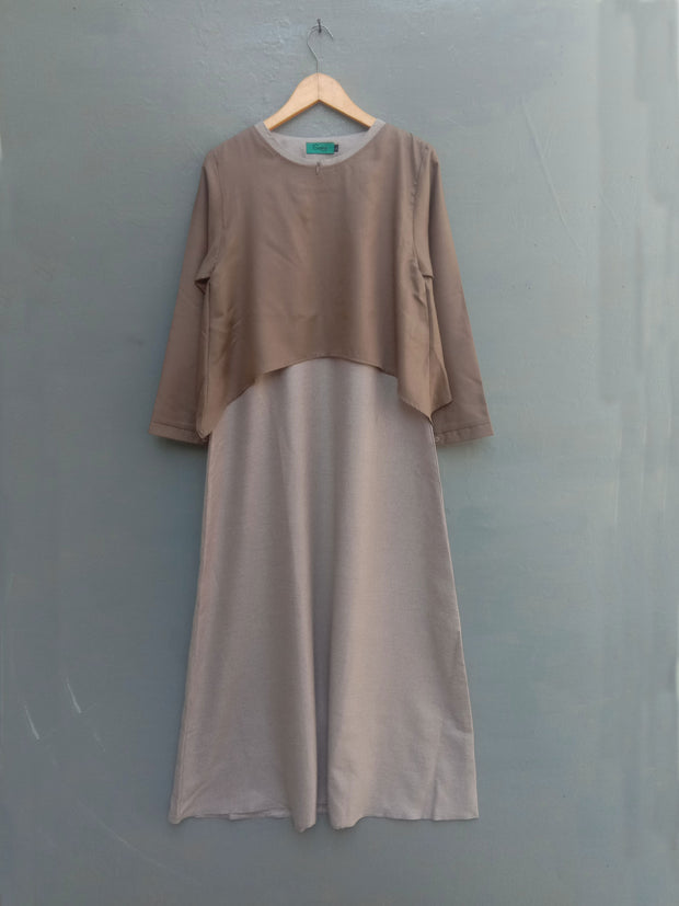 Catelya dress cokelat