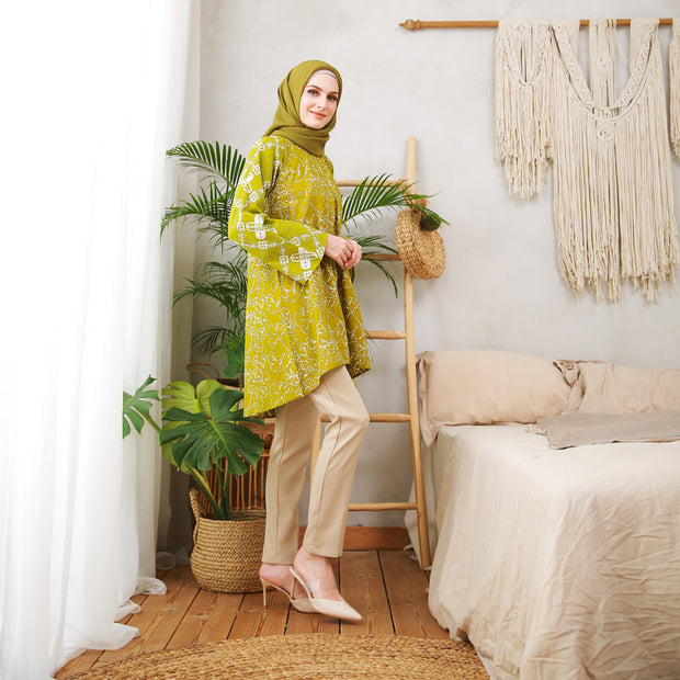 Batik - Marygold Blouse Hijau Lemon
