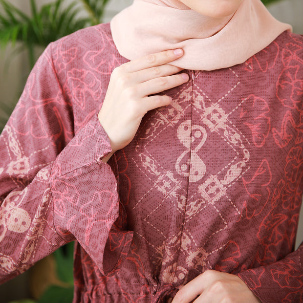 Batik - Danisa Tunik Dobby [Red Brown]