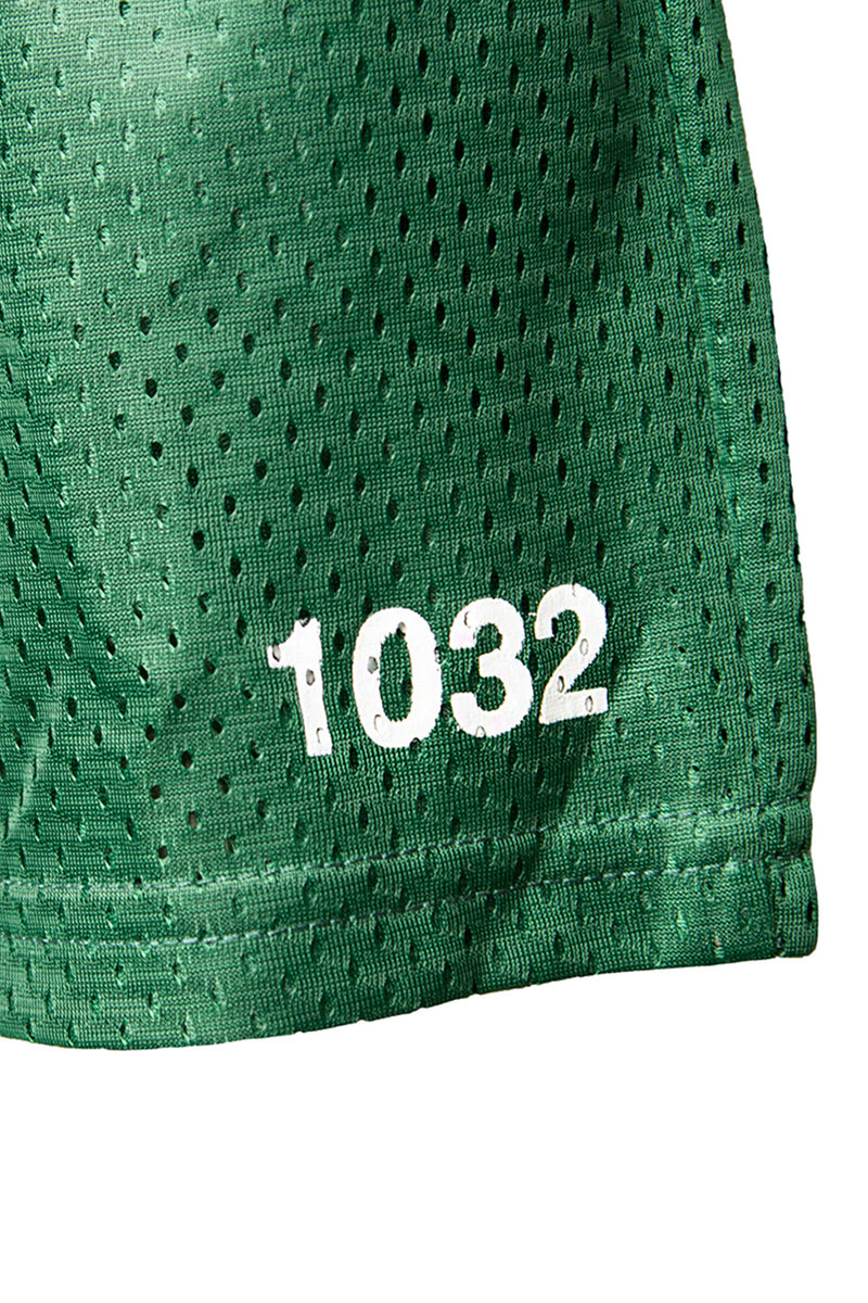 Green Numbers Logo Shorts | 1032 SPACE