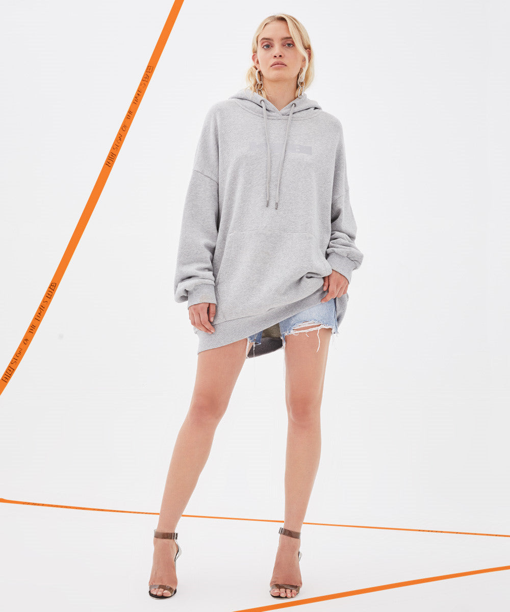 Ksubi - Grey Women's Sign of the Times Hoodie
