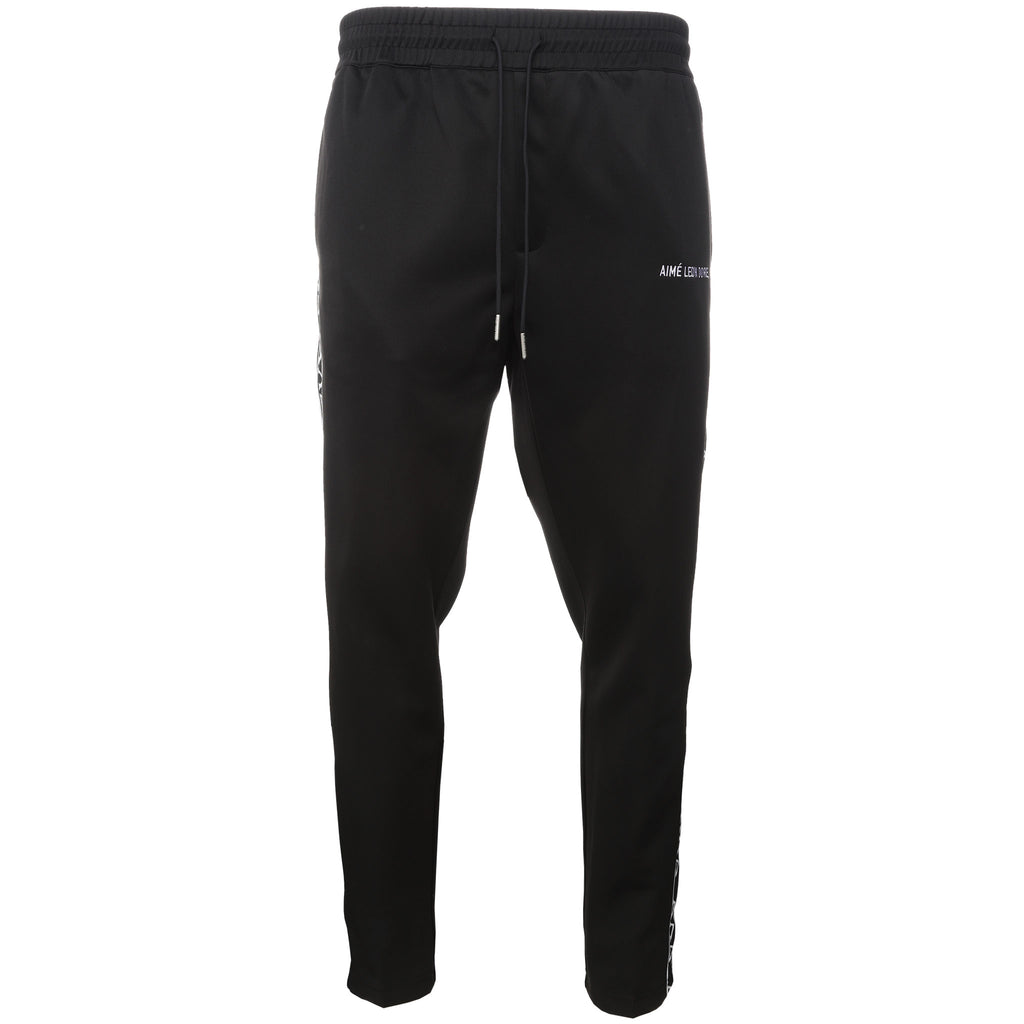 Black Greek Letter Track Pants