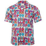 Purple Crayon Print Leisure Shirt