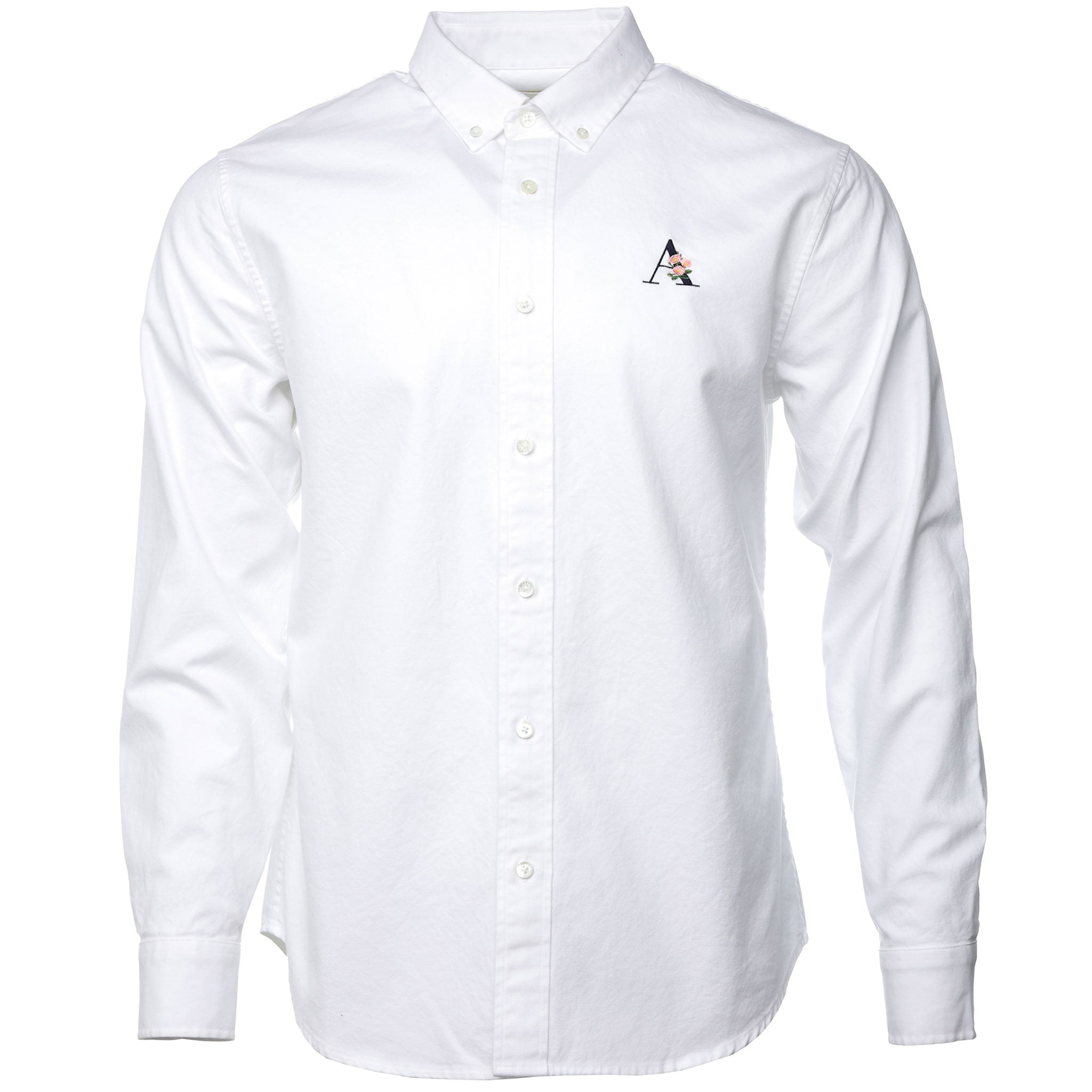 White Floral Logo Classic Oxford Shirt