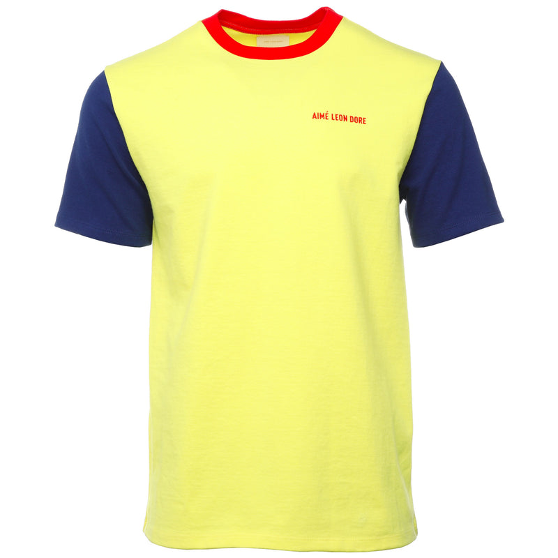 Yellow Colorblocked Logo T-Shirt