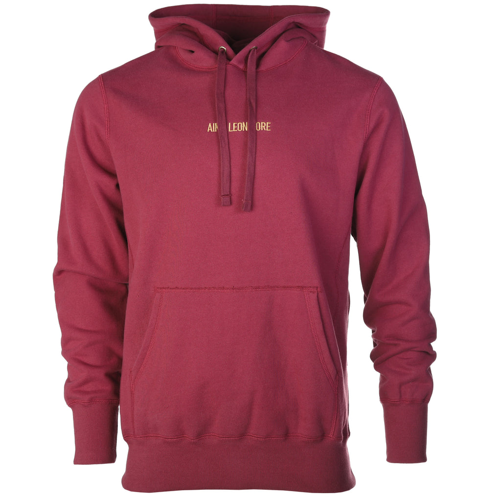 Aime Leon Dore Logo Hoodie Burgundy Fall Winter 2018 Front