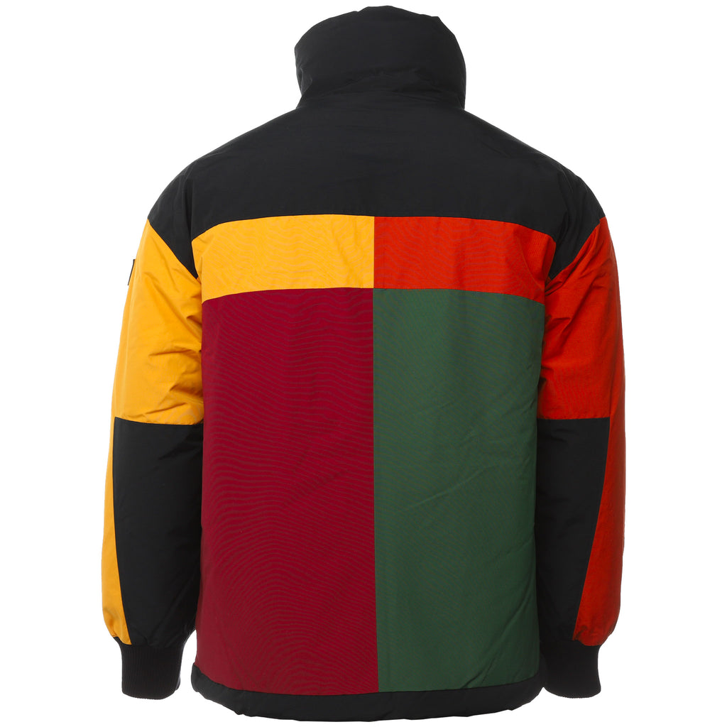 Multicolor Colorblock Down Jacket by Aime Leon Dore and Woolrich Back