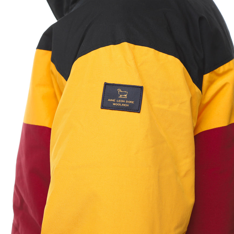 Sleeve Patch Multicolor Colorblock Down Jacket by Aime Leon Dore and Woolrich