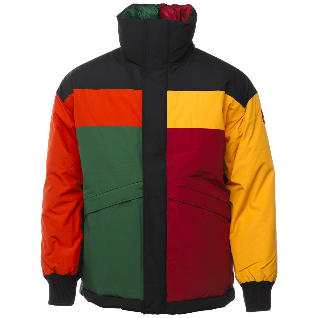 Multicolor Colorblock Down Jacket by Aime Leon Dore and Woolrich Front