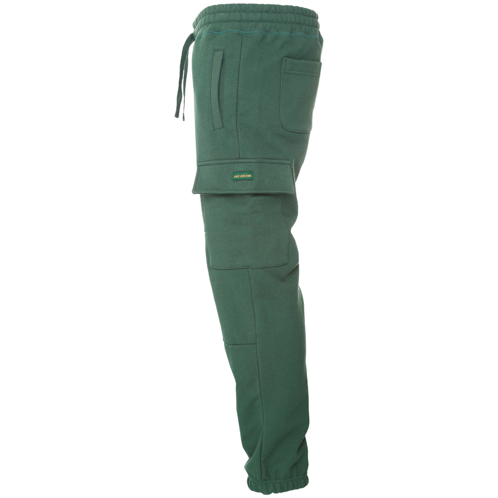 Aime Leon Dore Cargo Sweatpants Green Side