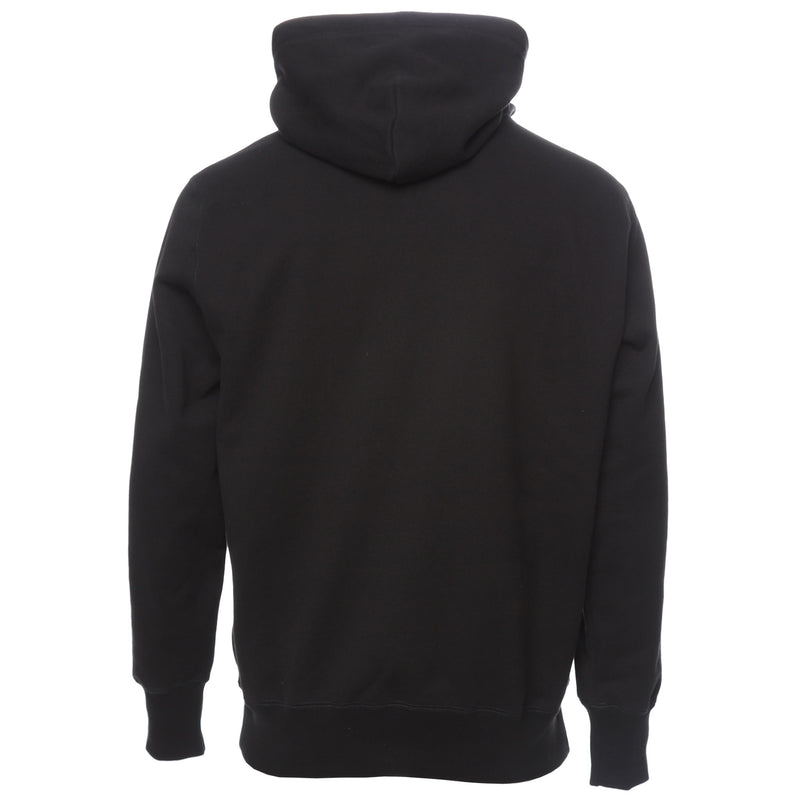 Aimé Leon Dore Black Snap Mock Neck Hoodie Back