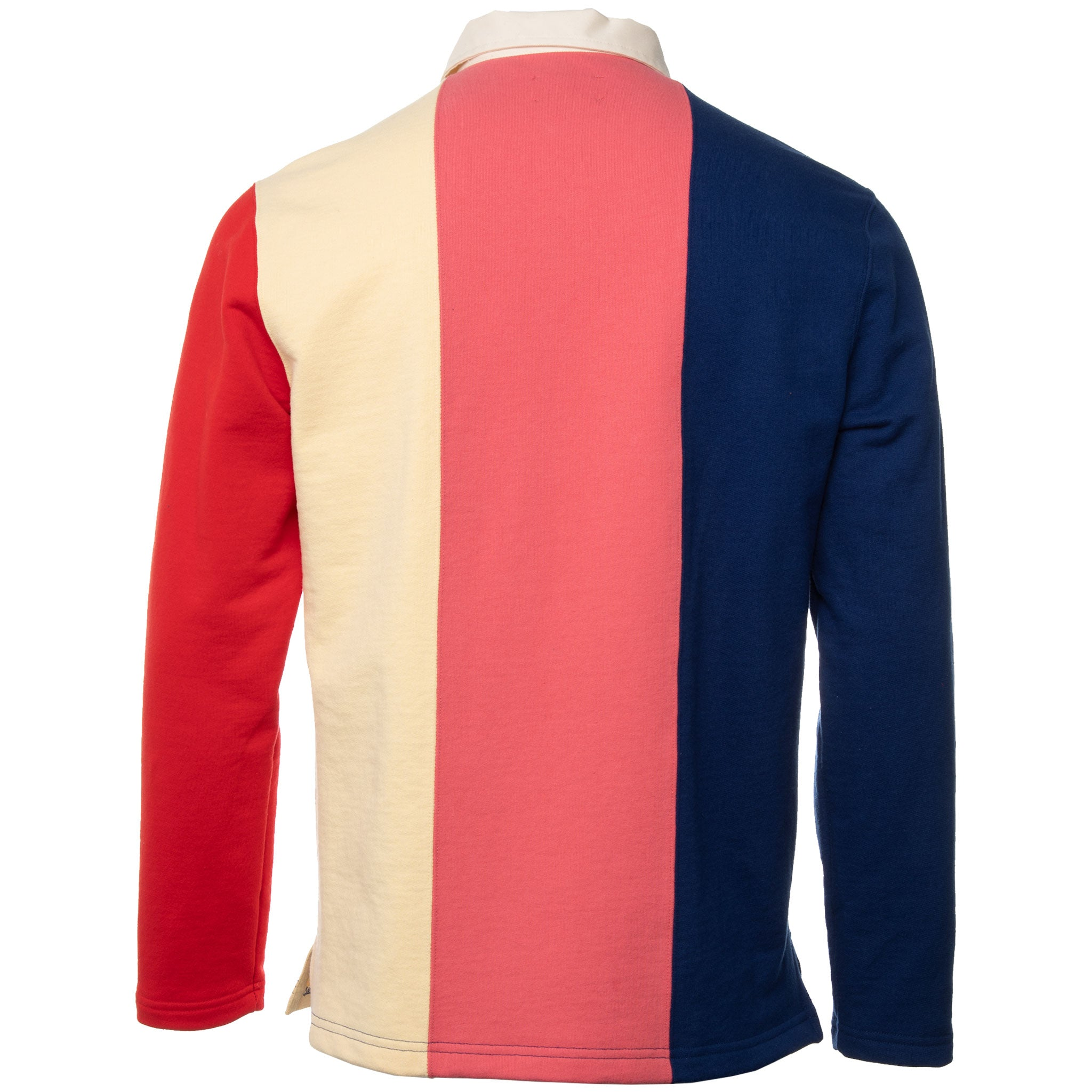 Aime Leon Dore - Navy and Pink French Terry Rugby Polo