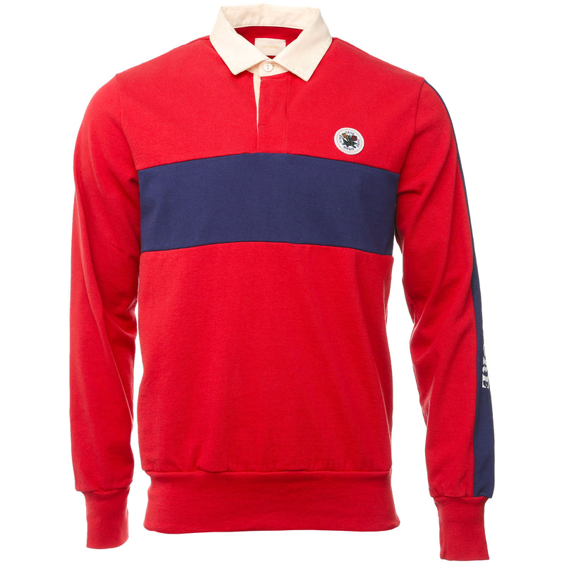 Aime Leon Dore - Red and Navy Striped Rugby Polo