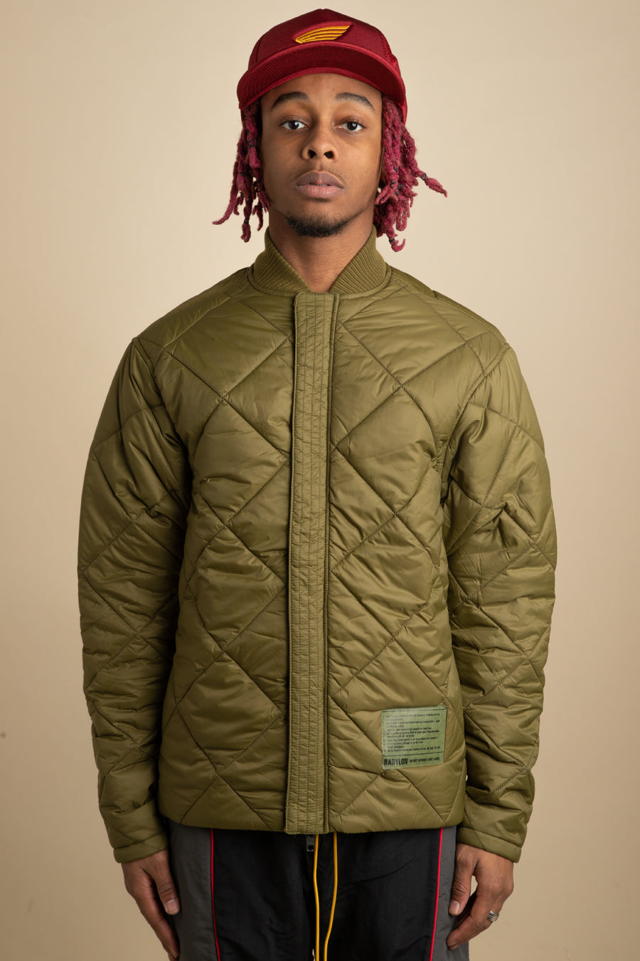 Babylon LA - Green Puffer Jacket