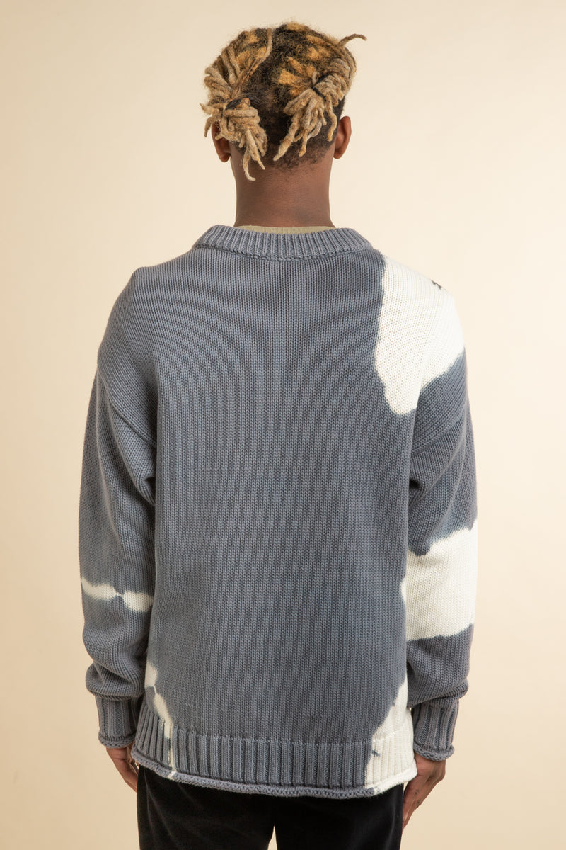 Babylon LA - Grey Tie Dye Sweater