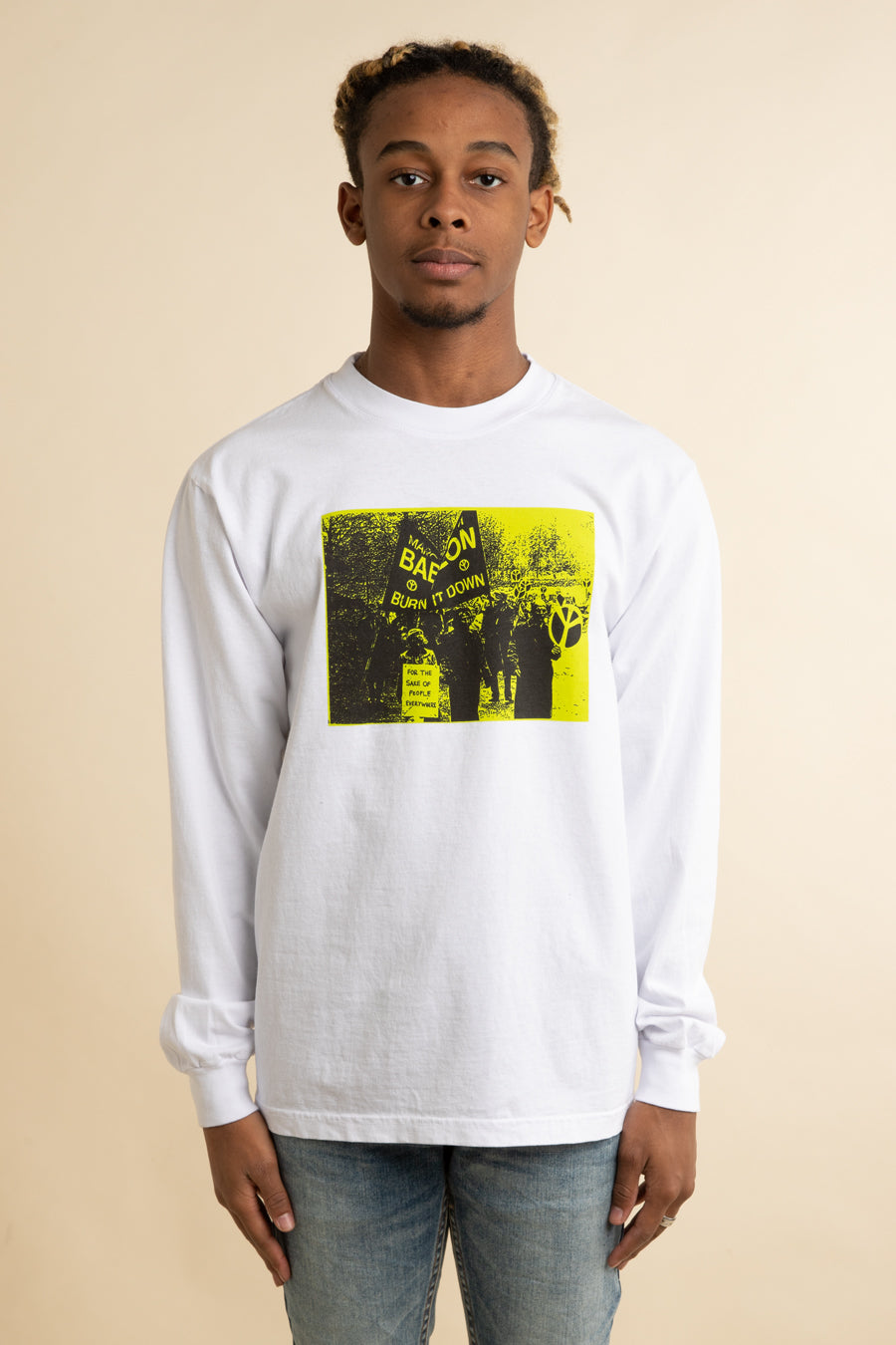 Babylon LA - White Burn It Down Long Sleeve T-Shirt