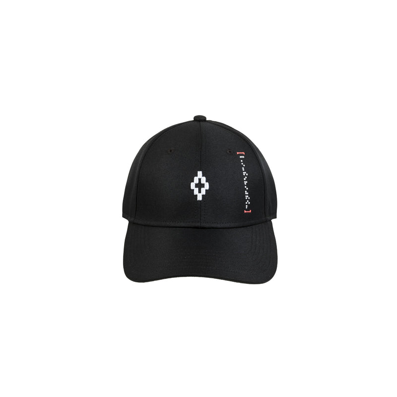 Starter and Marcelo Burlon Hat Black Cap Braille