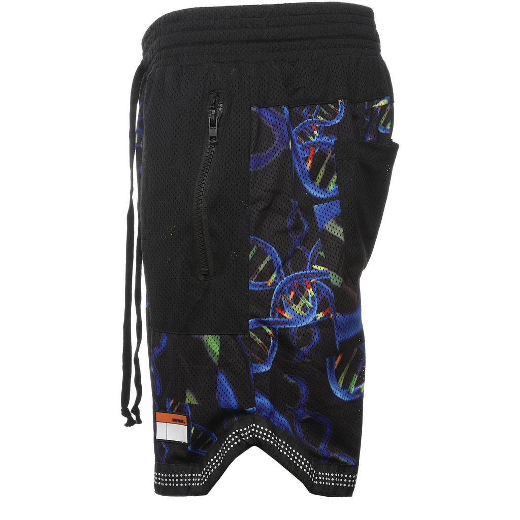 INDVLST - Black DNA Mesh Shorts