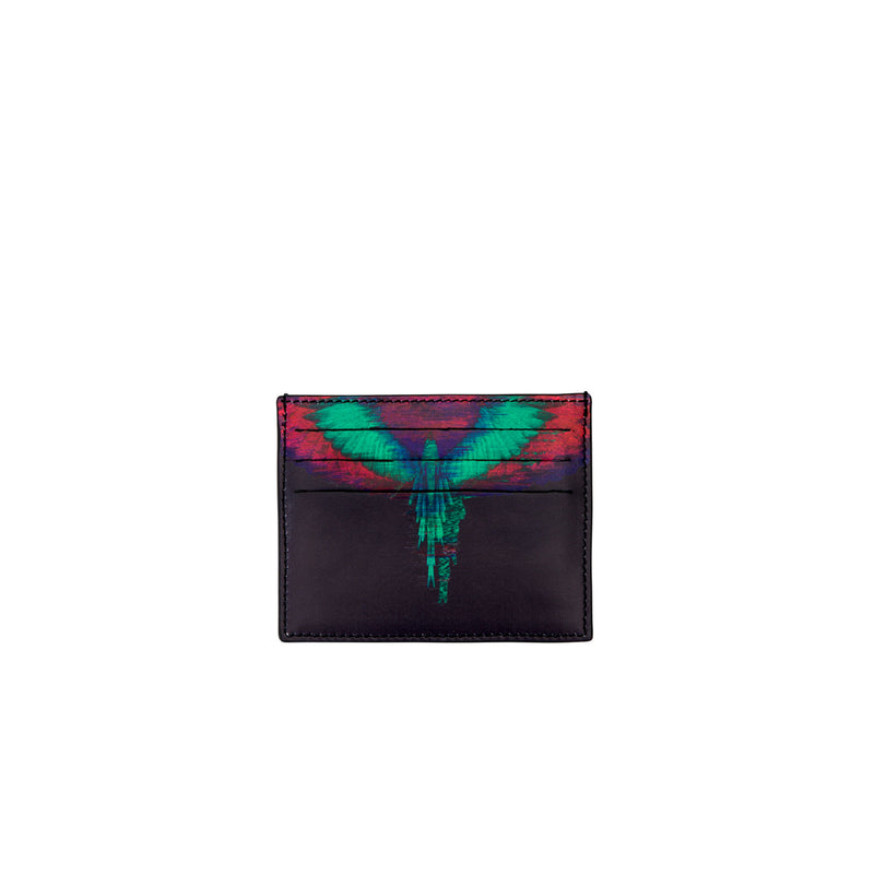 Black Fluorescent Glitch Card Holder