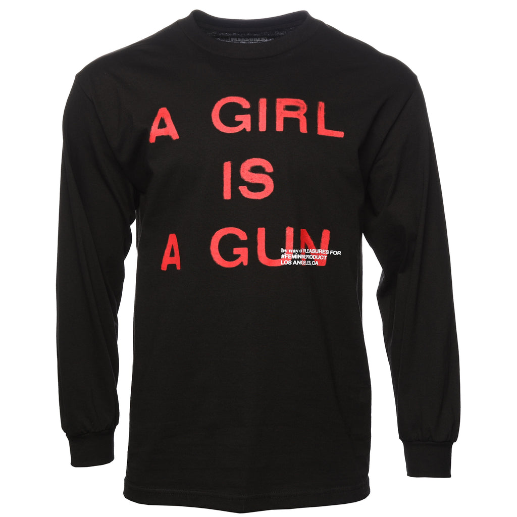Pleasures - Black A Girl Is A Gun T-Shirt
