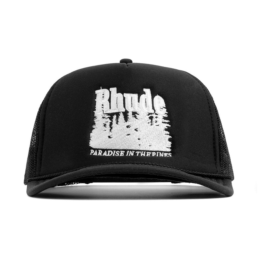 Rhude - Black Paradise in the Pines Trucket Hat
