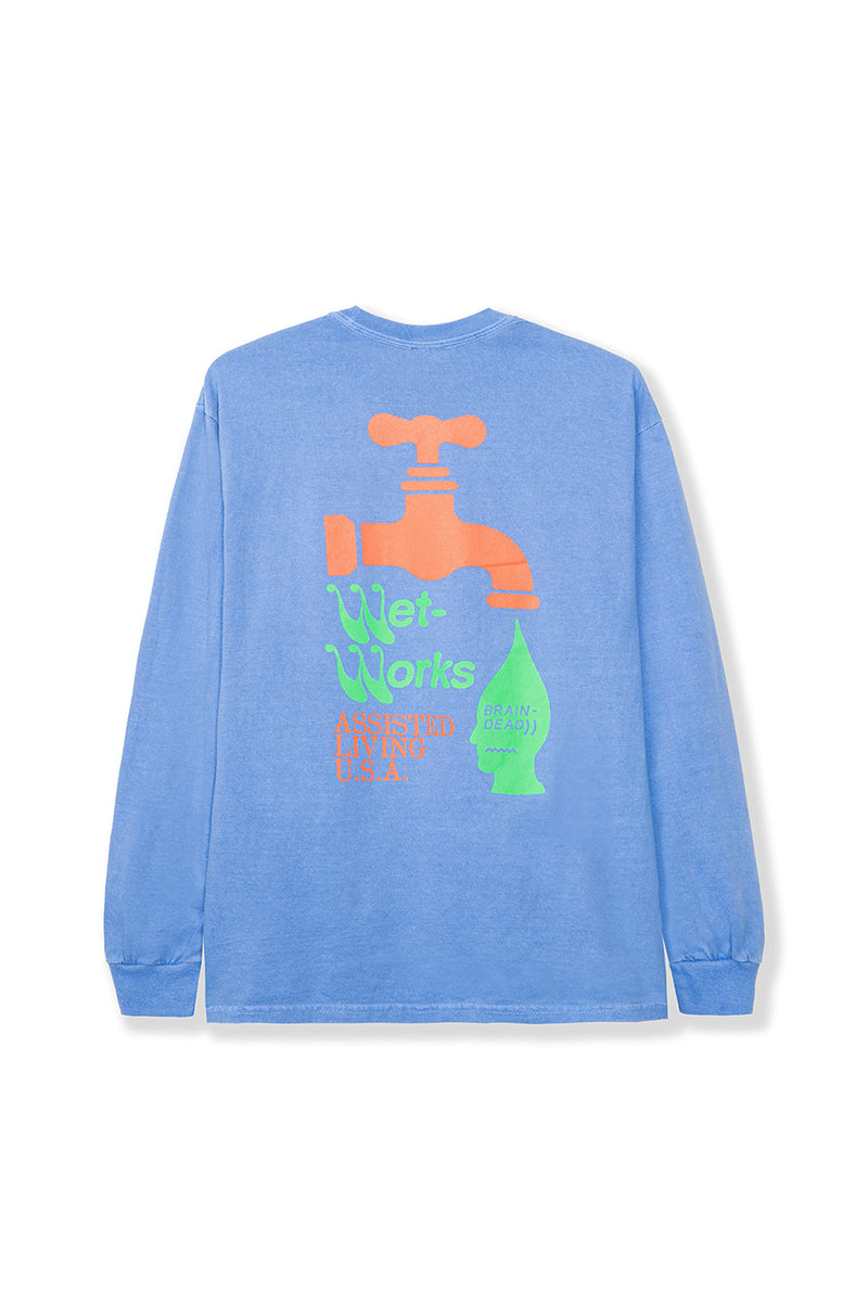 Blue Wet Works Long Sleeve T-Shirt