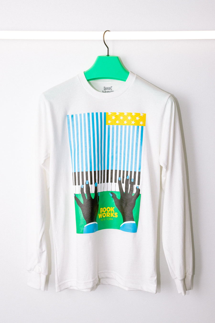 Real Book Works - White Flag Long Sleeve T-Shirt