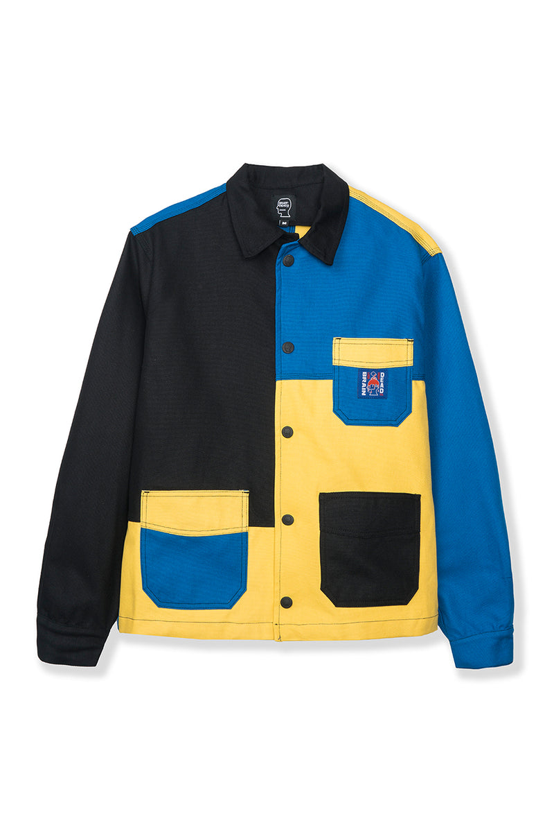 Brain Dead - Black & Blue Canvas Chore Coat