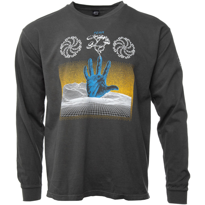 Brain Dead - Washed Black Chaos Long Sleeve T Shirt