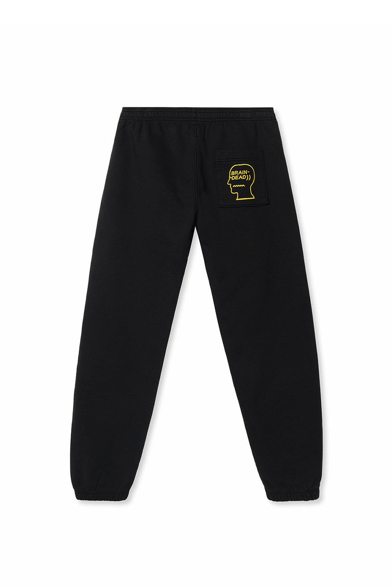 Brain Dead - Black Fungisphere Sweatpants | 1032 SPACE