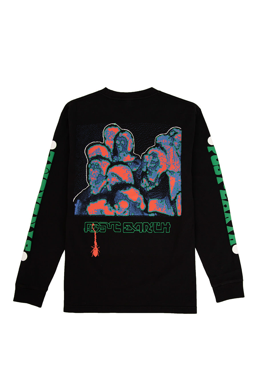 Brain Dead - Black Post Earth Syndrome Long Sleeve T-Shirt | 1032 SPACE