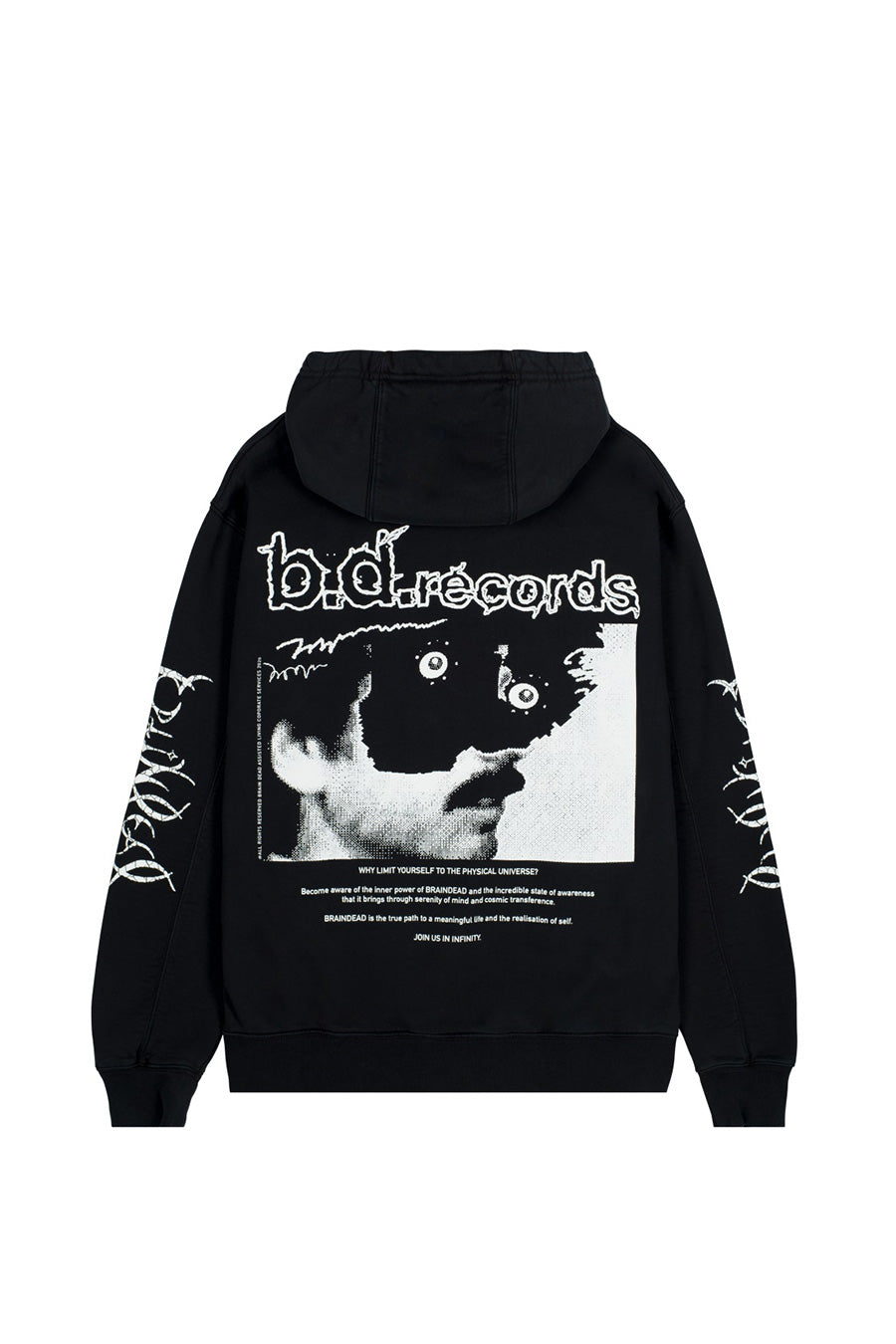 Brain Dead - Black Psycho Meditation Hoodie | 1032 SPACE