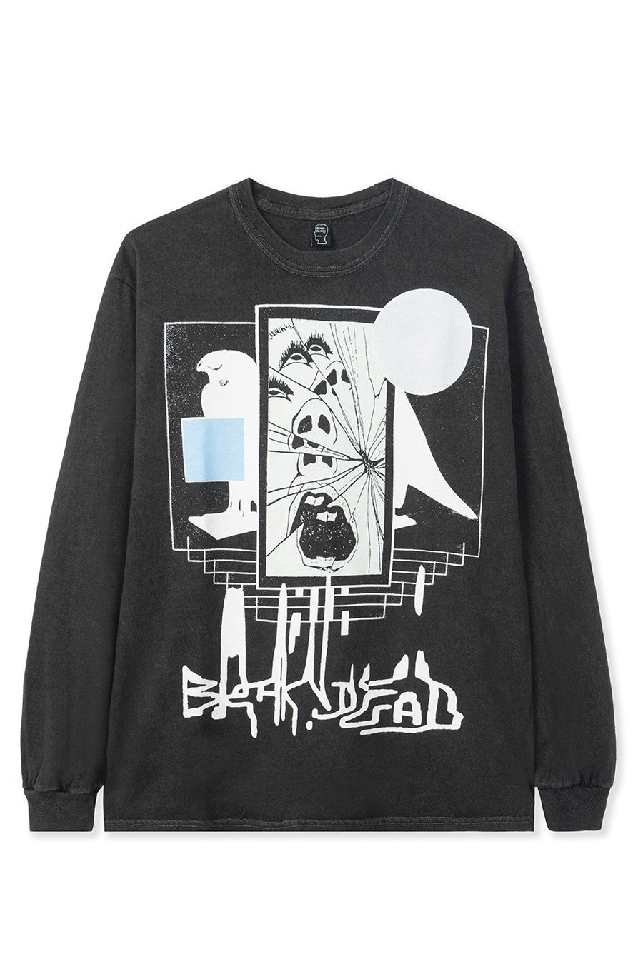 Brain Dead - Black Shriek of the Falcon Long Sleeve T-Shirt
