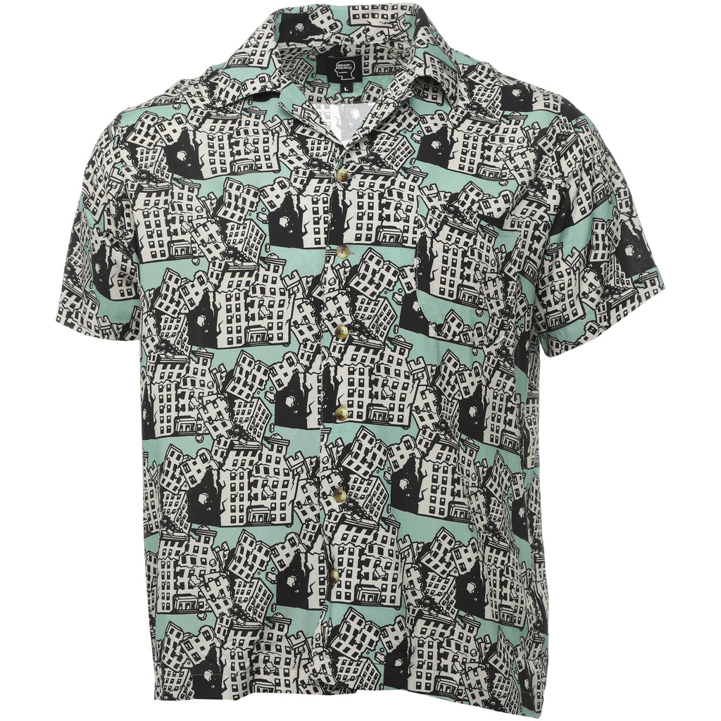 Brain Dead - Blue Buildings Hawaiian Shirt