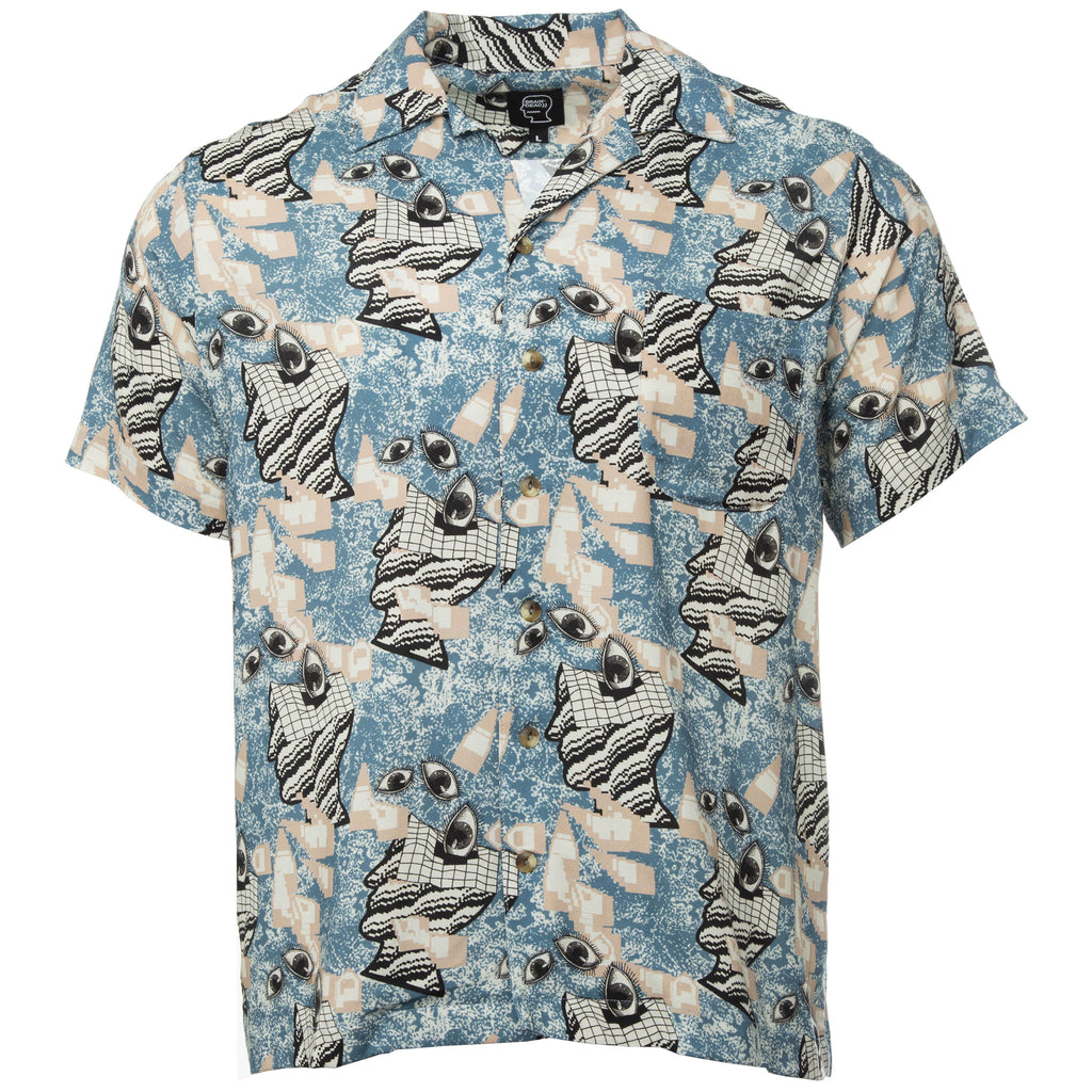 Brain Dead- Blue Springs Surreal Hawaiian Shirt