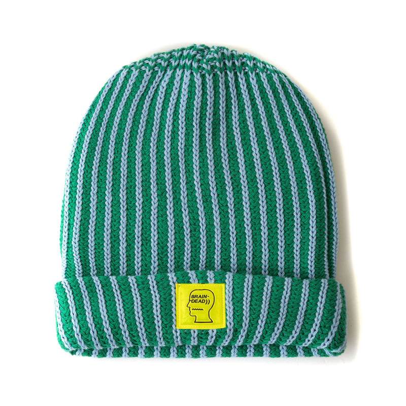 Green and Blue Logo Patch Beanie