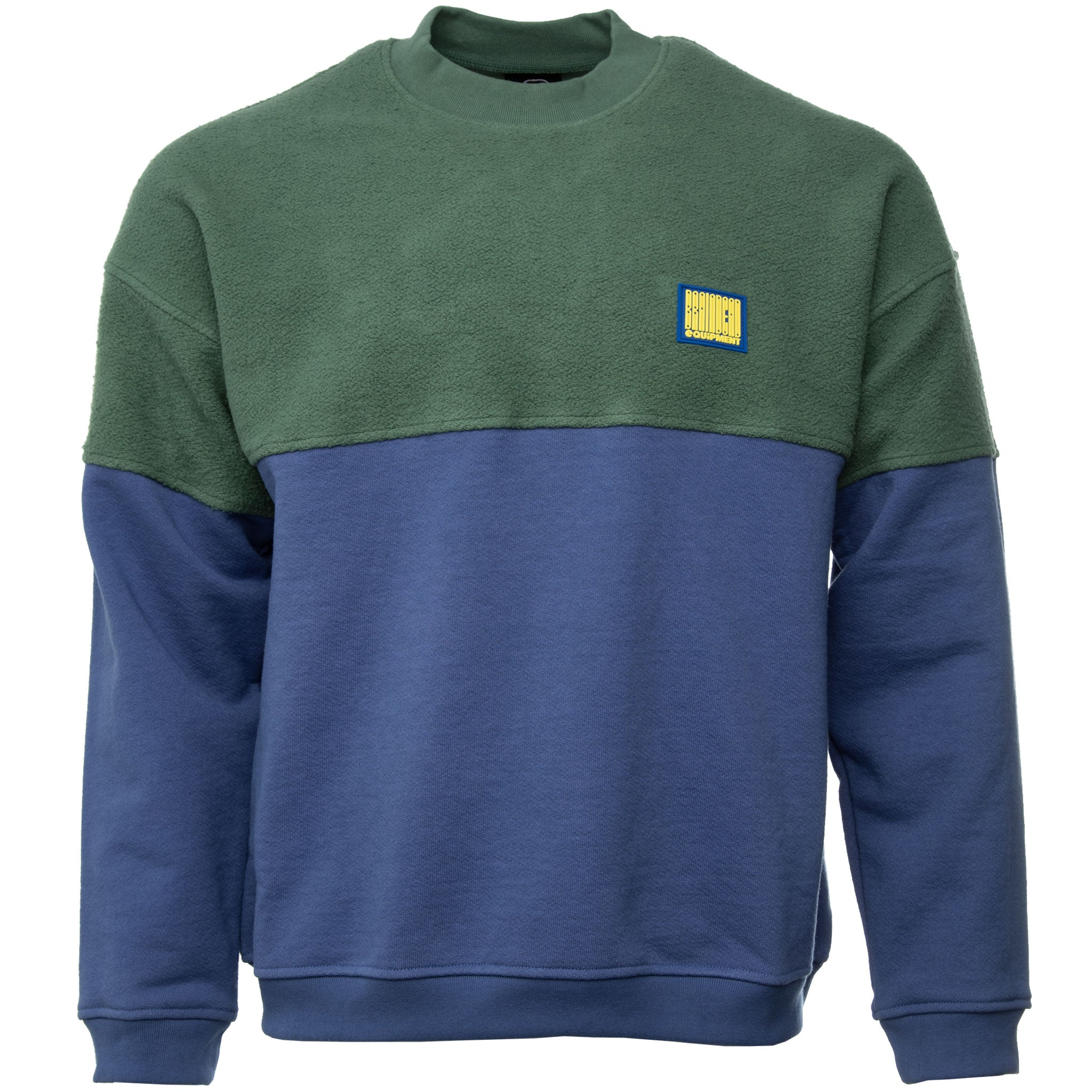 Brain Dead - Green and Blue Split Crewneck Sweatshirt