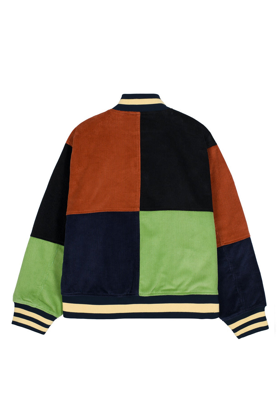 Brain Dead - Jacquard Patchwork Letterman Jacket | 1032 SPACE