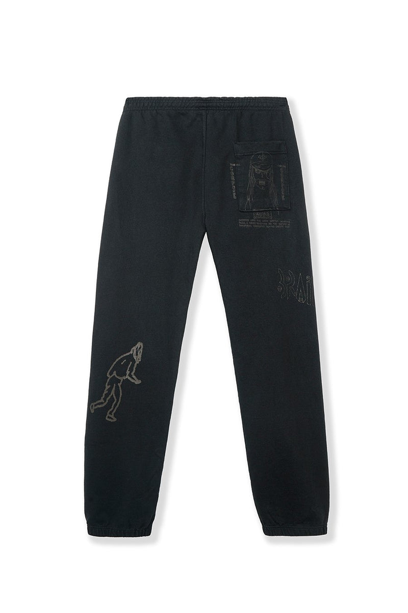 Brain Dead - Black Matt Locke Sweatpants